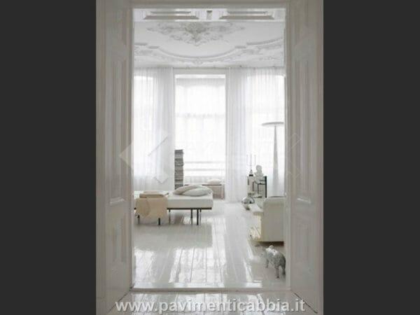 parquet bianco lucido