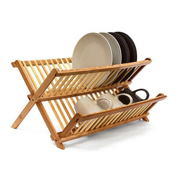 scolapiatti da appoggio in legno plastica od acciaio. Black Bedroom Furniture Sets. Home Design Ideas