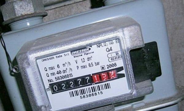 contatore analogico del gas
