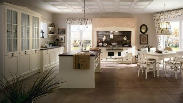 Callesella cucine in legno massiccio dal gusto country for Mobilia store cucine