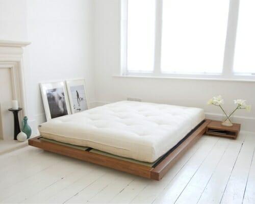 letto basso in legno