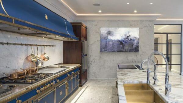 Cucina SAPPHIRE BLUE & BURNISHED BRASS
