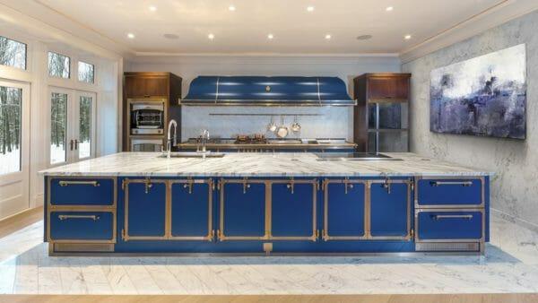 officine gullo: Cucina SAPPHIRE BLUE & BURNISHED BRASS