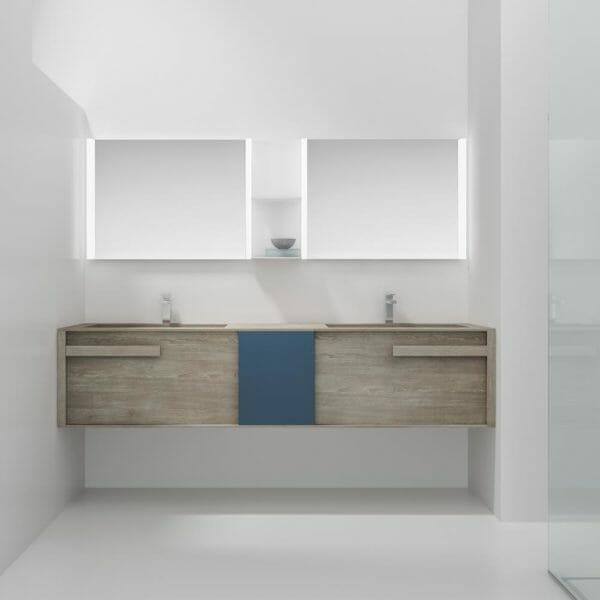 mobilcrab collezione in&out doppio lavabo