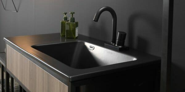 xilon lavabo candid black dettaglio