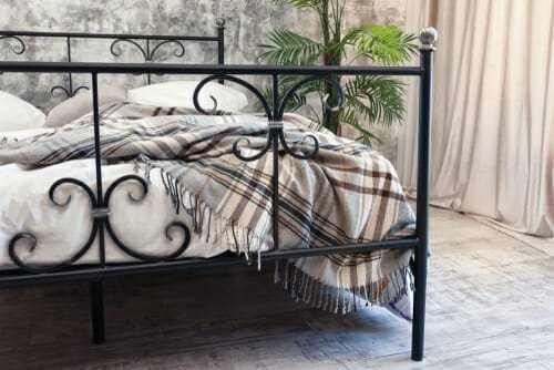 letto in ferro battuto