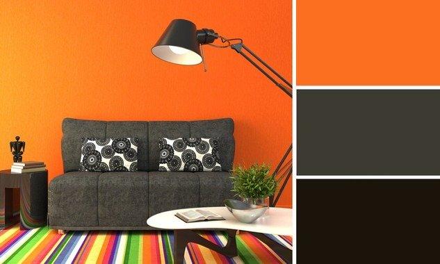 colore arancione- pareti