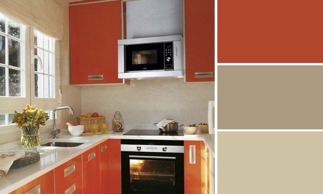cucina in colore arancione