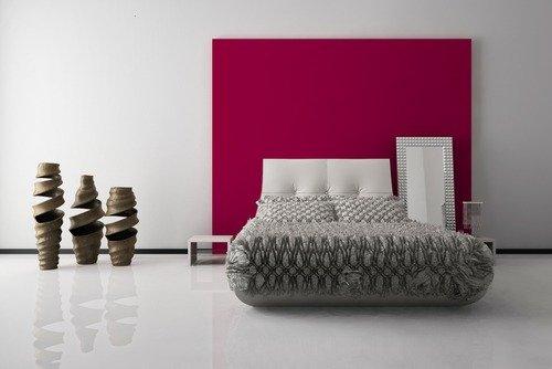 camera da letto colore fucsia