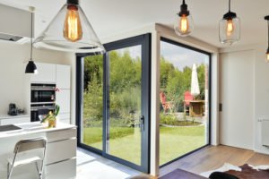 finestre scorrevoli in cucina