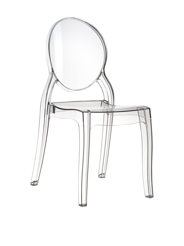 Sedie trasparenti in plastica policarbonato - Sedia trasparente ikea ...