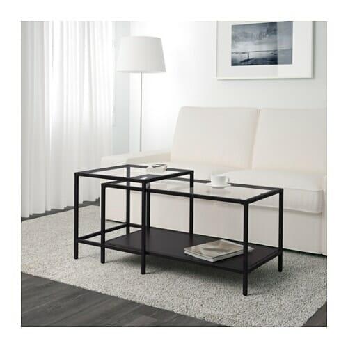 tavolino in vetro Ikea
