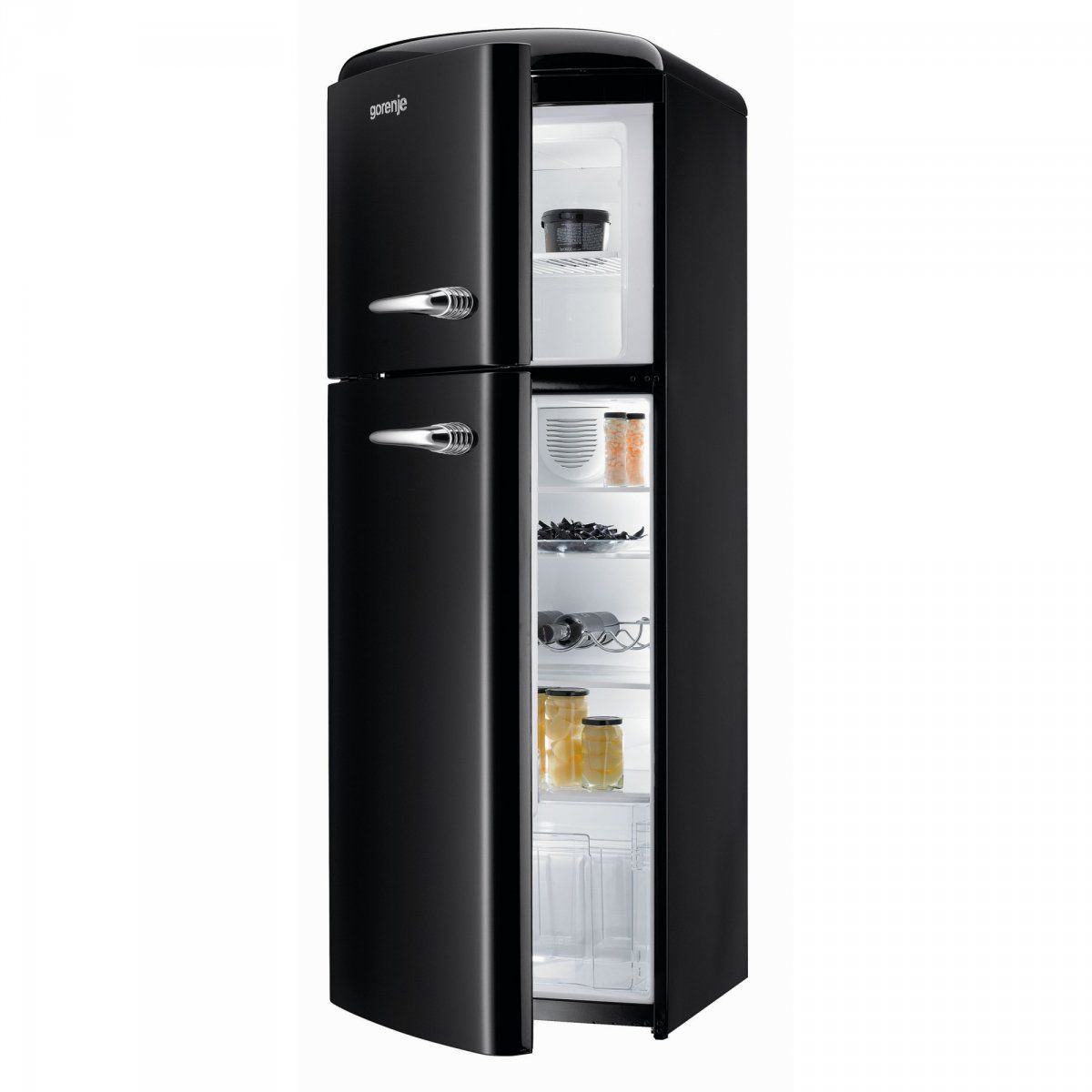 frigorifero a vista freestanding nero