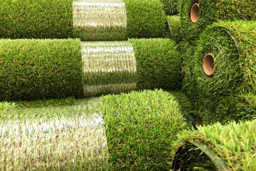 Rulli di erba a rotoli