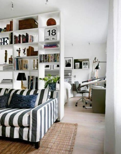Photo of Tutto sulla libreria divisoria, i vantaggi, i consigli per la scelta, i modelli per adattarsi al proprio stile