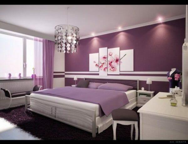 color lilla per le pareti di casa
