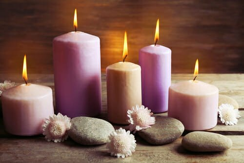 candele decorate e profumate