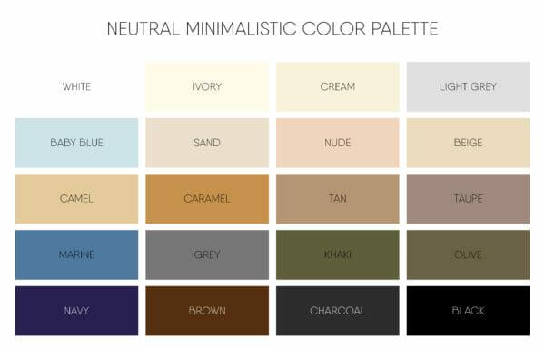 Arredamento con colori neutri