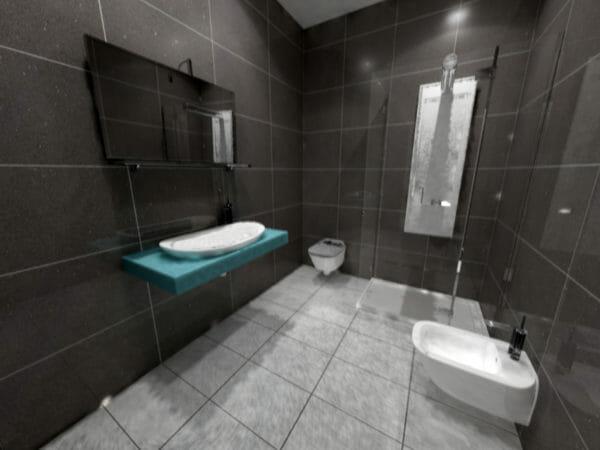 lavabo color ciano