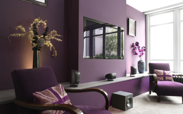 soggiorno color viola