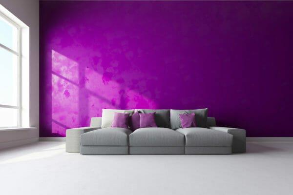 colore viola per living