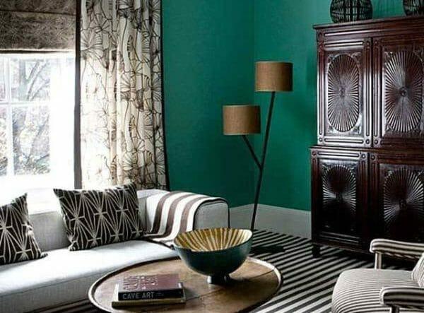 salotto colore verde