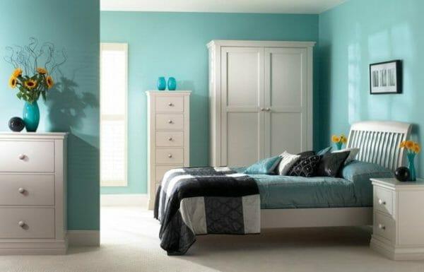 colori freddi in camera da letto