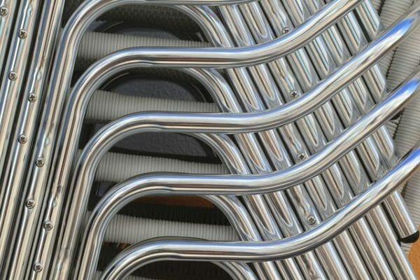Sedie impilabili in metallo