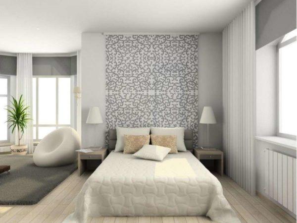 Camera da letto grigio e perla