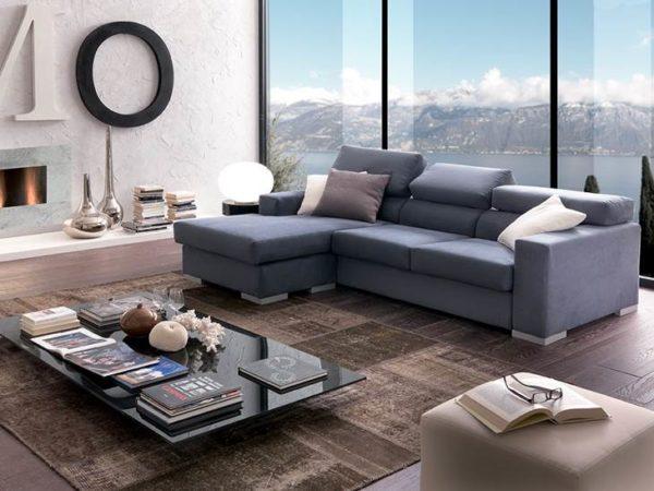 living con divano colore avio