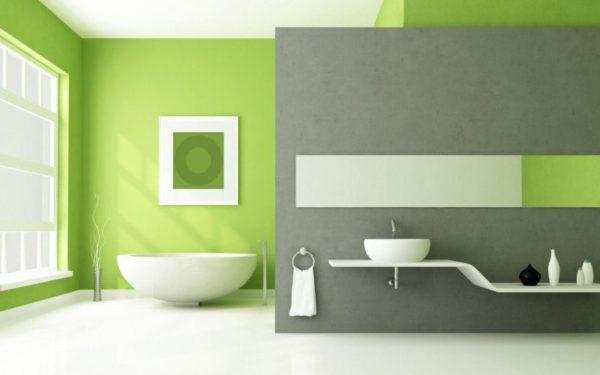 Bagno coloren verde