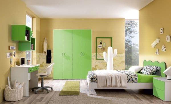 Camera dei bambini verde