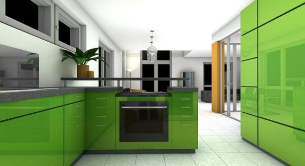 cucina colore verde